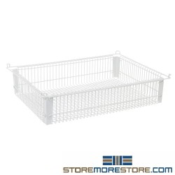 Quantum PS-WB22145 22 inch x 14 inch x 5 inch Wire Basket PS-WB22145