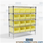 Storage Bin Wire Shelving Organization Rack WR5-1236-207 Quantum Racking