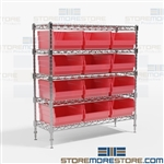 Parts Bins Wire Shelving Racks Bin Rack WR5-1236-209 Quantum Bin Racks
