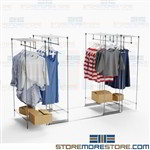 Backroom Hanging Clothing Racks Save Storage Space Commercial Garment Shelving