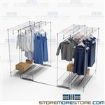 Hanging Garment Space Saving Shelving Rack Storage Clothes Costumes Uniforms