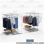 Hanging Garment High Capacity Shelving Storage Compacting Clothing Racks
