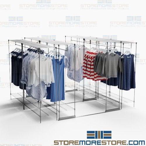 Condense Hanging Clothing Shelves Racks Retail Backroom Storage Units Save E