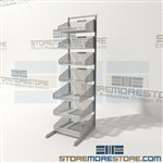 Wire Basket Shelving Adjustable Woven Wire Bin Shelves Quantum WS70-SS18-4S3L Mobile Par Storage