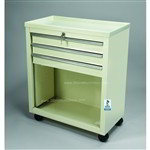 3 Drawer Small Key Locking Cart in Beige Only