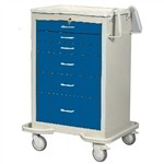 6 Drawer Wheeled Hospital Cart | Medical Supplies Cabinet | Surgical equipment Cart