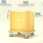 Medical Procedure Cart | Four Drawer Isolation Cart