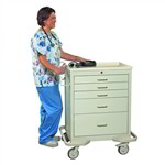 Hospital Crash Cart MBS-524 | Rolling Trauma Care Mobile Carts