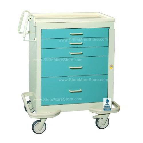Hospital Isolation Drawer Cart Aluminum Push Button Locks ...