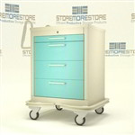 "4 Drawer Hospital Cart, Two-Tone Color Finish(32"" Wide x 25"" Deep x 46.25"" High), #SMS-50-MKT-430"