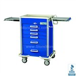 Aluminum Hospital Drawer Hospital Isolation Cart | Surgical Equipment Hospital Isolation Cart