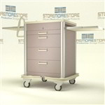 "4 Drawer Medical Cart, Solid Finish (32"" Wide x 25"" Deep x 39.75"" High), #SMS-50-SKS-430A"