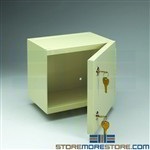 Small Narcotics Wall Cabinet Two Key Security Safe Controlled Substances TNC-4