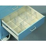 "Clear Drawer Divider Kit, 6"" Drawer FOR STANDARD CART, #SMS-51-TDV-6"