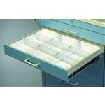 Full Drawer Tray with 6 dividers, 2 rails, #SMS-51-TMH-2