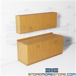 Workroom Wall Storage Cabinets Office Supply Room Counter High Storage Casework