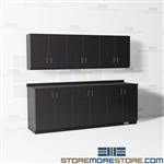 Work Area Casegoods Furniture Counter Cabinets Upper Storage Wall Millwork
