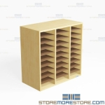 Folio Storage Hutch Music Folder Shelving Racks Organizing Slots Sheet Music