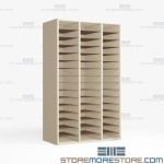 Folio Cubby Hutch Cabinet Storing Sheet Music Rack School Furniture Bin Shelves