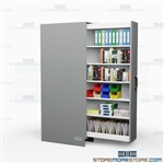 Pull-Out Music Storage Cabinet Shelving Laminated Bookshelf Casework