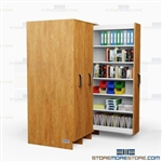 Pull-Out Music Storage Shelves High Density Draw-Out Laminated Cabinet