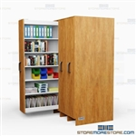 Slide-Out Bookshelf Cabinets Book Shelves Laminated Bookshelf Casework