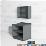 Office Work Area Cabinets Supply Storage Millwork Movable Casework Furniture