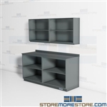 Open Work Area Office Cabinets Supplies Storage Organizing Office Space Millwork