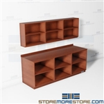 Open Mail Station Cabinets Work Counters Storage Office Organization Millwork