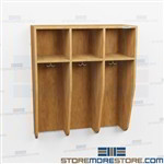 Wall Hung Locker - Commercial Wood Laminate Coat Hook Cabinets