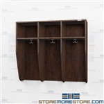 Triple Wide Locker - Open Face Student Wood Coat Hall Cabinets