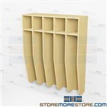 Open Face Student Lockers - Five Wide Hanging Wood Laminate Storage
