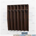 Coat Hook Lockers - Staff Wood Open Affordable Garment Cabinets