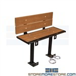 Jail Bench with Handcuff Rings
