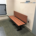 ADA Detention Bench Backrest Holding Handcuff Seat Temporary Detainee Chair