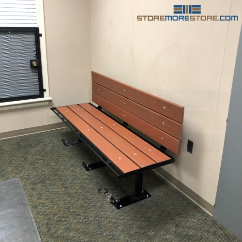 ADA Detention Bench with Backrest (6'W x 1' 10