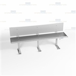 Stainless Temporary Detainee Bench Handcuff Chair Holding Seats Inmates Suspects