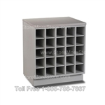 "Wood Rolled Plan Drawing Storage Unit, 36"" w x 30"" d x 35"" h, 30 fixed openings, #SMS-56-CUB363035"