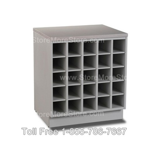 Rolled plan drawing cubbyhole counter storage cabinet for Architectural plan racks