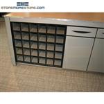 "Wood Rolled Plan Drawing Storage Unit, 36"" w x 36"" d x 35"" h, 30 fixed openings, #SMS-56-CUB363635"