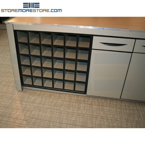 Counter high rolled blueprint cabinets construction plan storage wood rolled plan drawing storage unit 36 w x 36 d x 35 h malvernweather Image collections