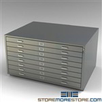Counter High Flat File Cabinet Plan Storage Drawers Architectural Artwork Photos