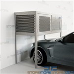 Overhead Storage Parking Spaces Cabinets Mesh Lockers Condo Bonnets Garages