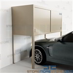Over Car Bonnet Storage Cabinets Parking Garage Lockers Condos Apartments Steel