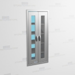 "Pass-Thru Stainless Cabinet with Glass Doors (2' 0""W x 2' 0""D x 5' 0""H), #SMS-58-DH242463P"