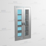 "Hinged Door Stainless Cabinet (Pass-Thru), 2' 6""W x 1' 6""D x 5' 0""H, #SMS-58-DH301863P"