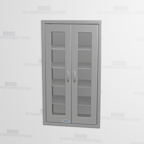 Free Dock To Shipping For Recessed Wall Cabinet Stainless With Hinged Gl