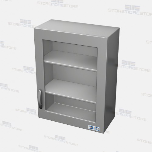 stainless upper Glass front storage cabinets for Medical Surgical ...