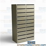Locking Office Mail Slots Mailroom Vertical Locking Door Sort Cubbies Shelves