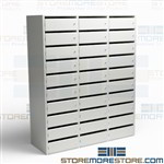 Vertical Office Locking Mail Slots Mailroom Sorting Distribution Wall Shelves